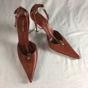 SERGIO ROSSI BROWN HEELS MADE IN ITALY SIZE 10
